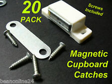 20 Pack 40mm Magnetic Cupboard Catches / Latch with Screws