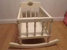COLECO  1986 ROCKING CABBAGE PATCH KIDS ALL WOOD CRADLE
