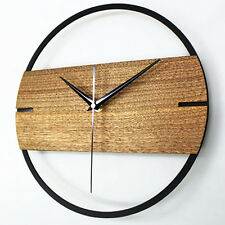 Creative Home Fashion Simple Wood Wall Clock Home Decor Watch 12""