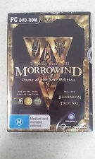 The Elder Scrolls 3 III Morrowind Game Of The Year Edition GOTY PC Brand New