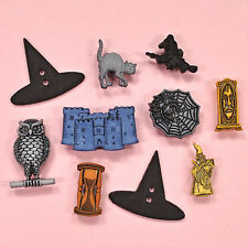 Buttons Galore Witchcraft & Wizardry - Halloween Wizard Witches Cat Dress It Up