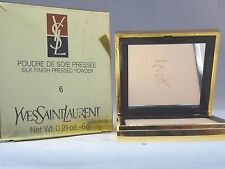 YVES SAINT LAURANT-POUDRE DE SOIE PRESSEE-SILK FINISH PRESSED POWDER #6-NIB