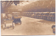 Early PostCard -Very Old Cars in ?Garage - Photo J E Marsh 6 Poulton Rd Seacombe