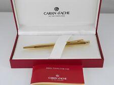 CARAN d'ACHE CdA ECRIDOR Gold Plated Chevron Ballpoint Pen MINT