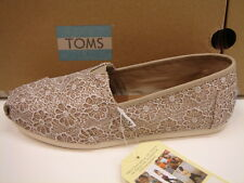 TOMS WOMENS CLASSIC ROSE GOLD CROCHET GLITTER SIZE 10