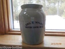 GEO.E.WALES,NEWTON CENTRE, MASS., STONE WEAR CROCK