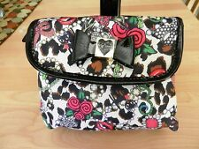 Betsey Johnson Leopard Fold out  Cosmetic Bag MSRP $58