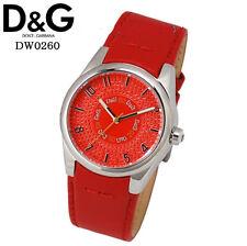 orologiodonna D&G Sandpiper cinturino pelle rosso DW0260