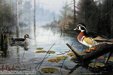 """WOOD DUCK POND"" Beautiful Mint s/n Print By Les Kouba"