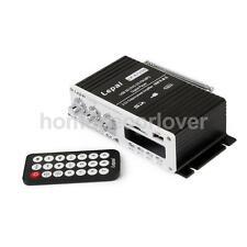 2-CH Car Mini MP3 Hi-Fi Stereo Audio Amplifier with USB/SD Port FM + Remote