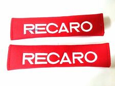 2pcs Red RECARO Embroidered Car SeatBelt Seat belt Shoulder Cover Pads
