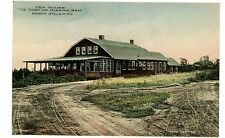 "North Salem NY - TEA HOUSE ""YE PORT OF MISSING MEN"" - Handcolored Postcard"