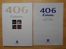 PEUGEOT 406 Estate 1997 UK Market prestige sales brochure + specs booklet