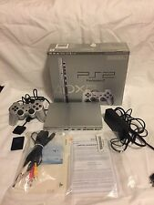 Sony PS2 Slim Satin Silver Console (SCPH-79001SS) PS2 In Box Complete Working