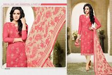 Elegant Designer Cotton Jacquard Suit Salwar Kameez Dress Material Unstitched 05