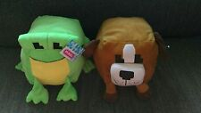 Lot of 2 PIXEL M8 By Nanco Dog & Frog Doggy Froggy Plush Doll Toys Puppy Cute