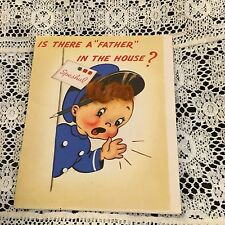 Vintage Greeting Card Get Well Cute Delivery Boy Rust Craft
