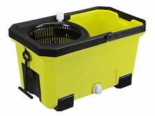 Easy Clean 360 Rotating Magic Spin Mop Micro Fiber Head Bucket Hurricane - Green