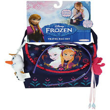 Disney Frozen - TRAVEL BAG SET (Bag, Olaf Plush Clip & Headband) - New