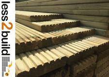 TREATED TIMBER DECKING BOARDS 38x125mm 4.8M LONG TIMBER DECKING GARDEN Natural