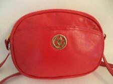 JANE SHILTON RED LEATHER BAG HANDBAG CROSS BODY