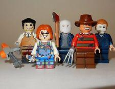 x5 *NEW* LEGO Custom Printed 90s VILLAINS Halloween Horror Movie Minifigure Lot