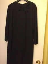 Escada black dress with open cut flower size 44 (14) NWT. Retail $995