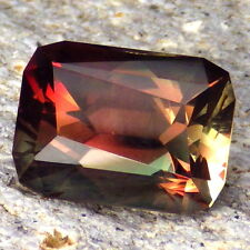 "TEAL-GREEN-RED-ORANGE ""MYSTIQUE"" SCHILLER OREGON SUNSTONE 8.77Ct FLAWLESS-INVES."