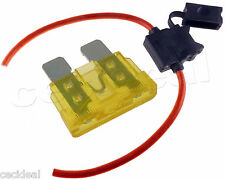 8 GAUGE INLINE ATC FUSE HOLDER WITH 20 AMP FUSE WITH COVER NEW CAR TRUCK INSTALL
