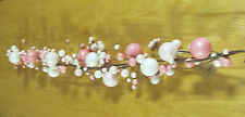 Adams & Co Decorative 5' Multi Glitter Berry Garland - Pink and White
