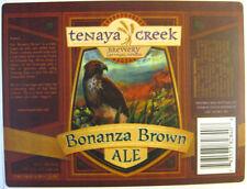 BONANZA BROWN ALE Beer STICKER, Label with HAWK, Tenaya Creek, Las Vegas, NEVADA