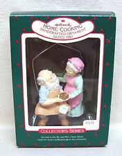"Hallmark Ornament #2 In The ""Mr & Mrs Claus"" Series 1987 Home Cooking"