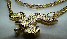 Elvis Style new gold 3D Flying Eagle Pendant for 70s jumpsuit era