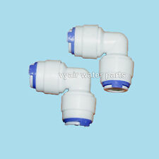 "1/4"" 90 Degree Push-Fit Elbows For Reverse Osmosis Water Pipe - Pack of two"