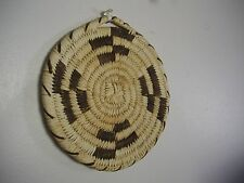 "Papago Coil Wall Plaque Traditional Design 7.5"" Collectable Native American USA"