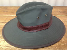"Rangers Mens Hat Forest Green Brown Band 100% Cotton Brim 3 1/4"" Crown 4 1/2"""