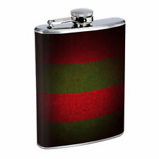 Freddy Sweater Print Nightmare 8oz Stainless Steel Flask Drinking Whiskey