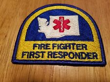WASHINGTON FIRE FIGHTER, FIRST RESPONDER. Patch