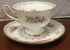 Shelley Fine Bone China CROCHET Pink Floral ~ Lace Cup and Saucer 2 pc Set