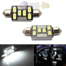 2pcs White 6-SMD-5730 42mm LED Bulbs For Car Interior Dome Lights 211-2 578 560