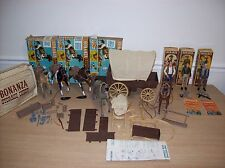Huge Lot 1960's Bonanza American Character Wagon Figures Accessories Western