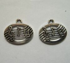 6 pieces Tibetan Silver MUSIC STAFF and NOTES Charms 9.5 x 17.5 mm Free shipping