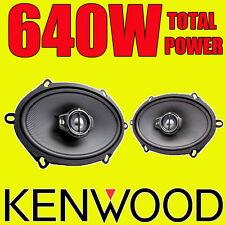 "KENWOOD 5""x7"" 5x7 640W 3-way car door deck oval shelf speakers Mondeo Fiesta"