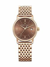 NEW Maurice Lacroix Eliros Gold Chocola Ladies Diamonds Watch EL1094-PVPD6-710-1