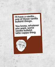 "Larry David sticker! ""I'll have a vanilla..."" curb your enthusiasm quote sticker"