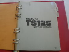 USED GENUINE SUZUKI TS125 1978 DEALER SERVICE MANUAL SR2801H E-3 W SUPPLEMENTS