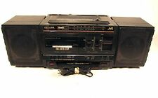 JVC PC-V33 Portable Boombox AM FM Stereo Cassette Deck Player Recorder AC DC