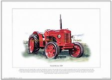 DAVID BROWN 30D FINE ART PRINT - British made tractor from the 1950's Cropmaster