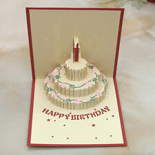 3D Pop Up Greeting Card Handmade Happy Birthday Easter Valentines Day New