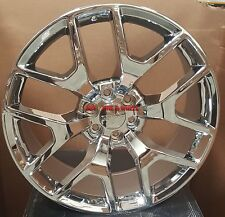 24 GMC Sierra Replica Wheels Chrome Rims Fit Denali Yukon Silverado Tahoe LTZ 26